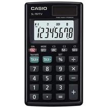Calculadora Casio De Bolsillo Negro, 8 Dígitos Sl-797tv-bk