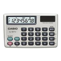 Calculadora Casio De Bolsillo Dorada, 8 Dígitos Sl-787tv-gd