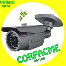 Camara Seguridad Bullet Verifocal Metálico 700tvl Cmos 1198v