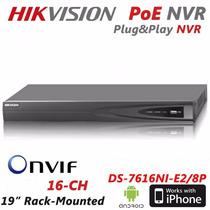 Solo Hikvision Nvr 16 Canales Poe+ip Onvif Precio Negociable