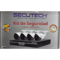 Kit De Seguridad Secutech 4 Canales 4 Camaras 650tvl 960h
