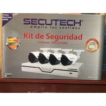 Kit Cámaras De Seguridad Secutech, Hdmi, Disco Duro 500 Gb