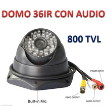 Camara Seguridad Domo Infrarojo 36led 800tvl Cmos Audio Cctv