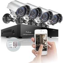 Kit Camaras Seguridad 4 Canales 4cam 600tvl Dvr 500gb Funlux