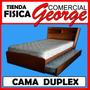 Cama Duplex Con Biblioteca Y Baul - Comercial George
