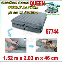 Cama Inflable Doble Altura Queen 2 Colchones En 1¡se Separa!