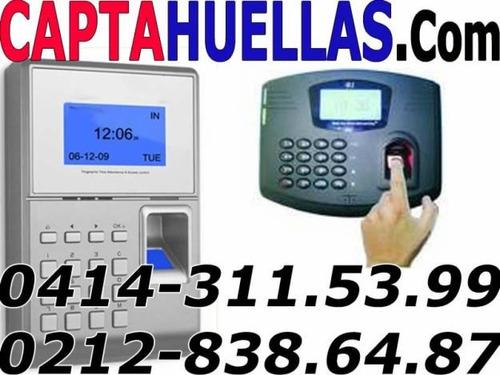 Capta Huella Con Sistema De Control Asistencia Biometrico