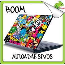 Skin Autoadhesivo Laptop Sticker Boom Decora Protege Logos