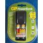 Mini Cargador Bateria Gp Powerbank Nimh + 2 Aaa 400mah