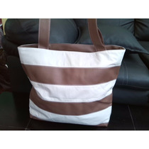 Cartera/bolso De Dama De Moda Color Marron/beige