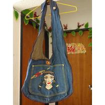 Bolso Cartera Para Dama Color Azul De Jean