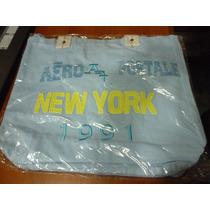 Bolsos Aeropostale B-2 Azul Claro De Lona Resistente Tela