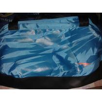 Bolso Para Gym Rs21 Azul Turquesa Con Fosforescente