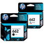 Combo Cartuchos Hp Originales 662 Negro Y 662 Color