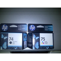 Cartuchos Hp 74 Y 75 Originales