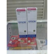 Botella Epson De Tinta Magenta T6643 De 70 Ml Para L200