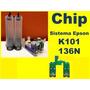 Chip Reseteador Sistema Continuo K101 K301 Cartuchos 136