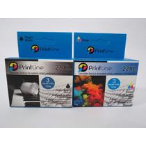 Combo Cartuchos 21 Y 22 Genericos Printline Xl Hp Compatible