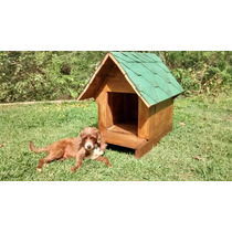 Casa Para Perros De Madera De Pino Tipo Cabañas
