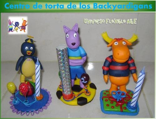 Centro De Torta De Los Backyardigans En Masa Flexible