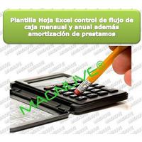 Plantilla Hoja Excel Flujo De Caja Calculo Prestamos Interes
