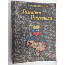 Literatura Venezolana Mariano Picon Salas Ed. 1952