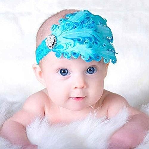 Cintillos En Plumas Para Bebes Y Niñas - Bs. 1.100,00 en MercadoLibre