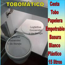 Papelera Tobo Empotrable Tobomatico 15 Litros