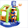 Colchon Inflable Brinca Saltarin Basquet Anillo Recreativo