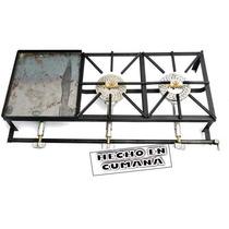 Reverbero,cocina,primo 2 Hornillas + Plancha 120x45x80cm