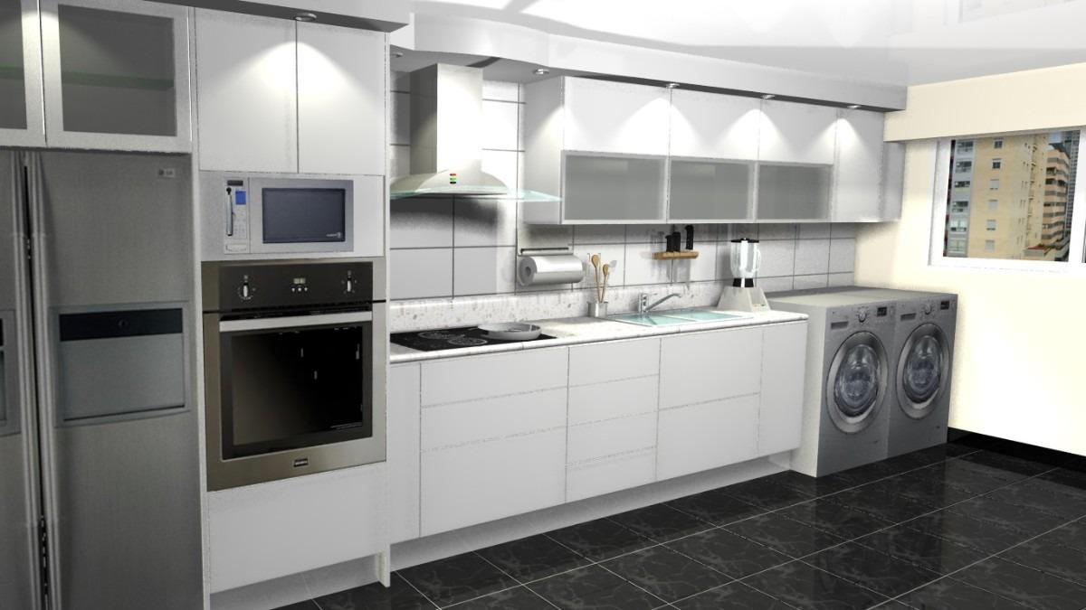 Cocinas empotradas todos los modelos dise os 3d asesor a for Ver cocinas americanas
