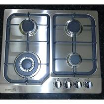 Tope De Cocina 24 = 60 A Gas Acero Inoxidable Hierro Fundido