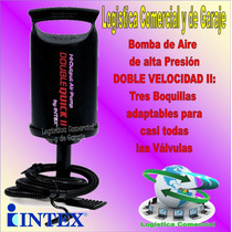 Bomba Para Inflar Doble Accion I I Intex Globos Colchon Bote