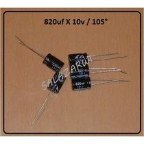 Kit De 10pzas Condensadores 820uf X 10v, Utiles En T/madre