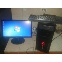 Computadora Completa. Cpu, Monitor Plano, Teclado Y Mouses
