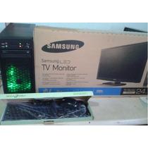 Nueva Pentiund Dual 3.4 Ghz, Disco 500 Lcd Tv 24 Con Control