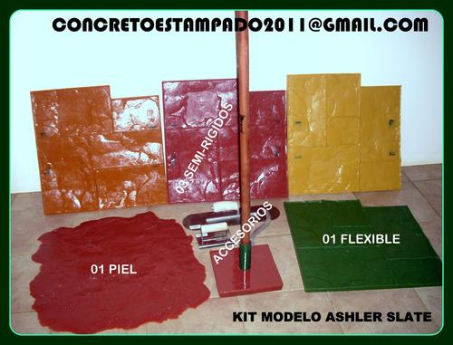 Concreto Pisos Estampado Moldes Con Productos Y Construcción