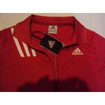 Conjunto Adidas Damas Con Pant Capri Color Rojo .