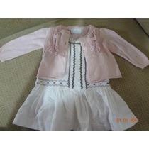 Vestido Y Sueter De Bebe Niña Epk Usado Como Nuevo