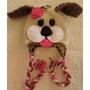Gorrito De Bebe Tejido Crochet Perrito