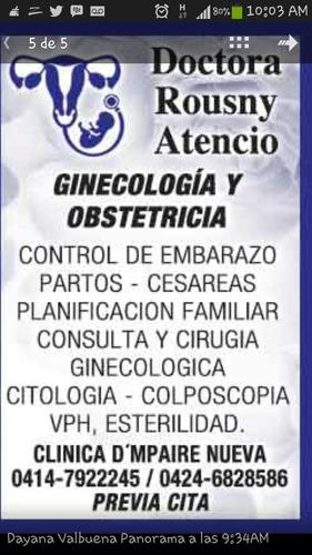 Consulta De Ginecologia Y Obstetricia Dra Rousny Atencio