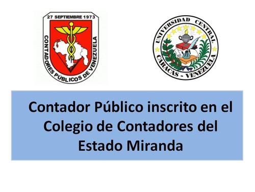 Contador Publico Certificacion De Ingresos Balance Personal