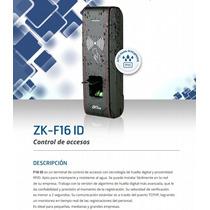 Zk F16 Id Biometrico Control De Acceso Para Intemperi Tcp/ip