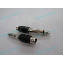 Conector Adaptador Plug 6.35mm Macho A 1 Rca Hembra