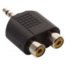Adaptador 1 Mini Jack 3.5 Convierte En 2 Salidas Hembra Rca
