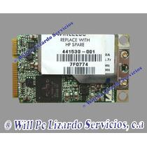 Tarjeta De Red Wifi Para Compaq 6515/ 6710/ C700/ V6400