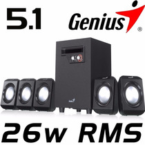 Cornetas Home Theater 5.1 Genius Sw-5.1 1020 6 Piezas