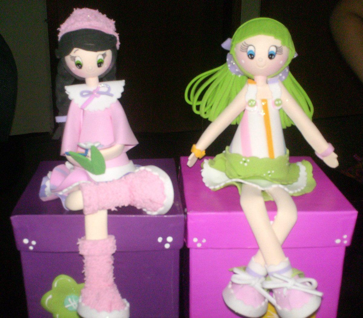 Como hacer muñecas de foami - Imagui