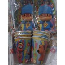 Pocoyo Combo Mantel + Vasos + Torteritas