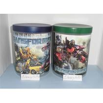 Potes Con Tapa Transformers, Toy Story, Y + Para Cotillón